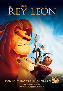 Cartel de la película El Rey León en 3D