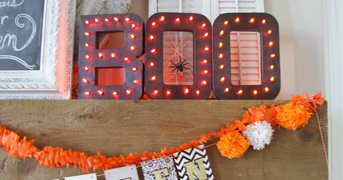 Michaels Halloween String Lights : Nesting in the Bluegrass: Light up BOO letters