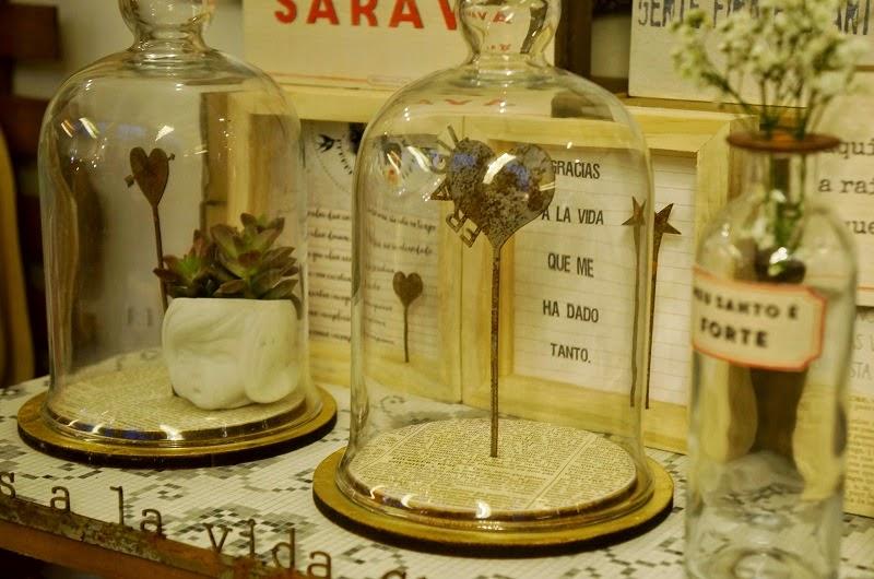 Redomas de vidro da Mercatto Casa - Feira Rosenbaum Especial Mães