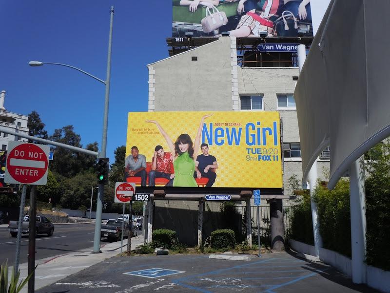 New Girl TV billboard