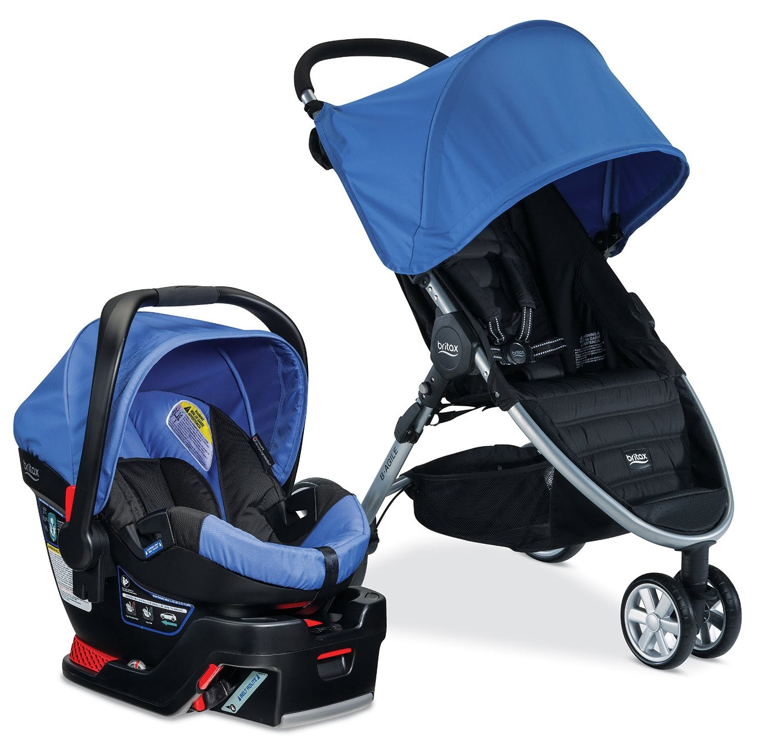how to close britax b agile stroller