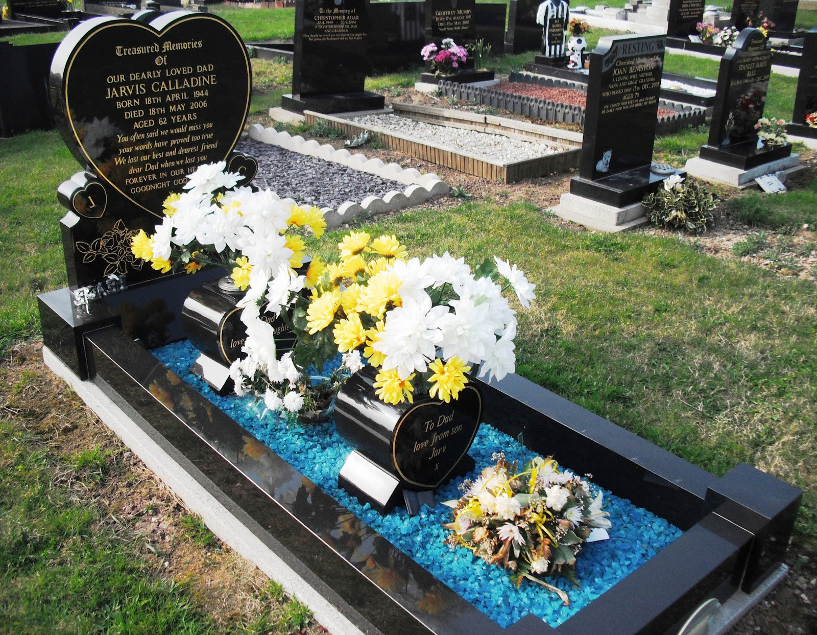 Life after money keadby to crowle and back for Grave decorations ideas
