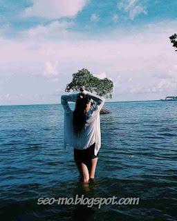 Foto Terbaru Glenca Chysara Dipantai