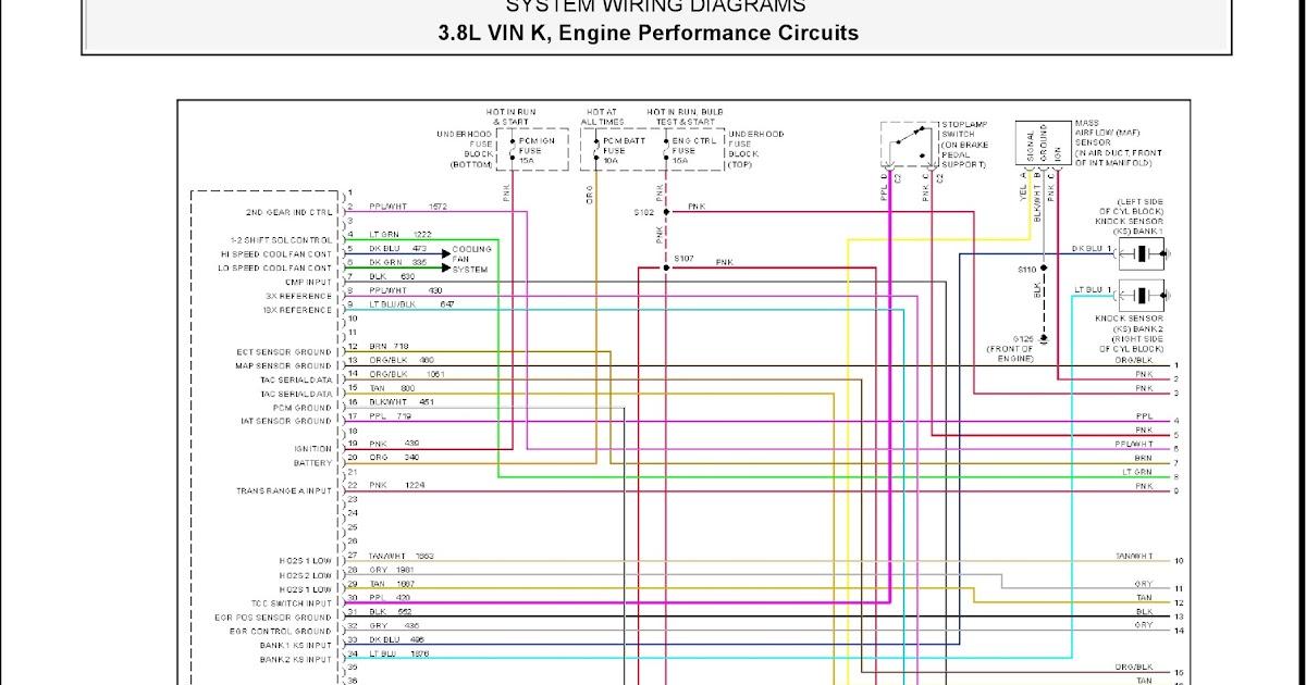 2001 Pontiac Firebird System Wiring Diagrams 16 3 8l Vin K