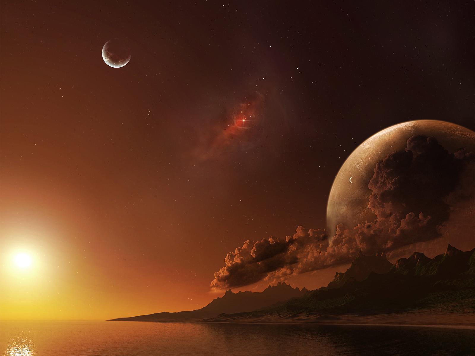 alien sunset wallpaper - photo #14