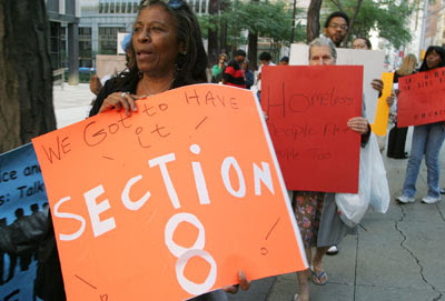 Protesters March For Section 8