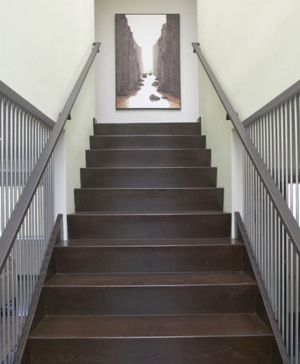 hanging art stairwell