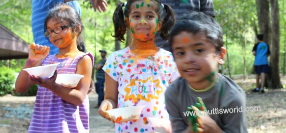 Holi Kids play with Colors