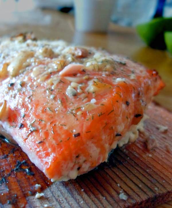 Tender and Smoky Cedar Plank-Grilled Salmon