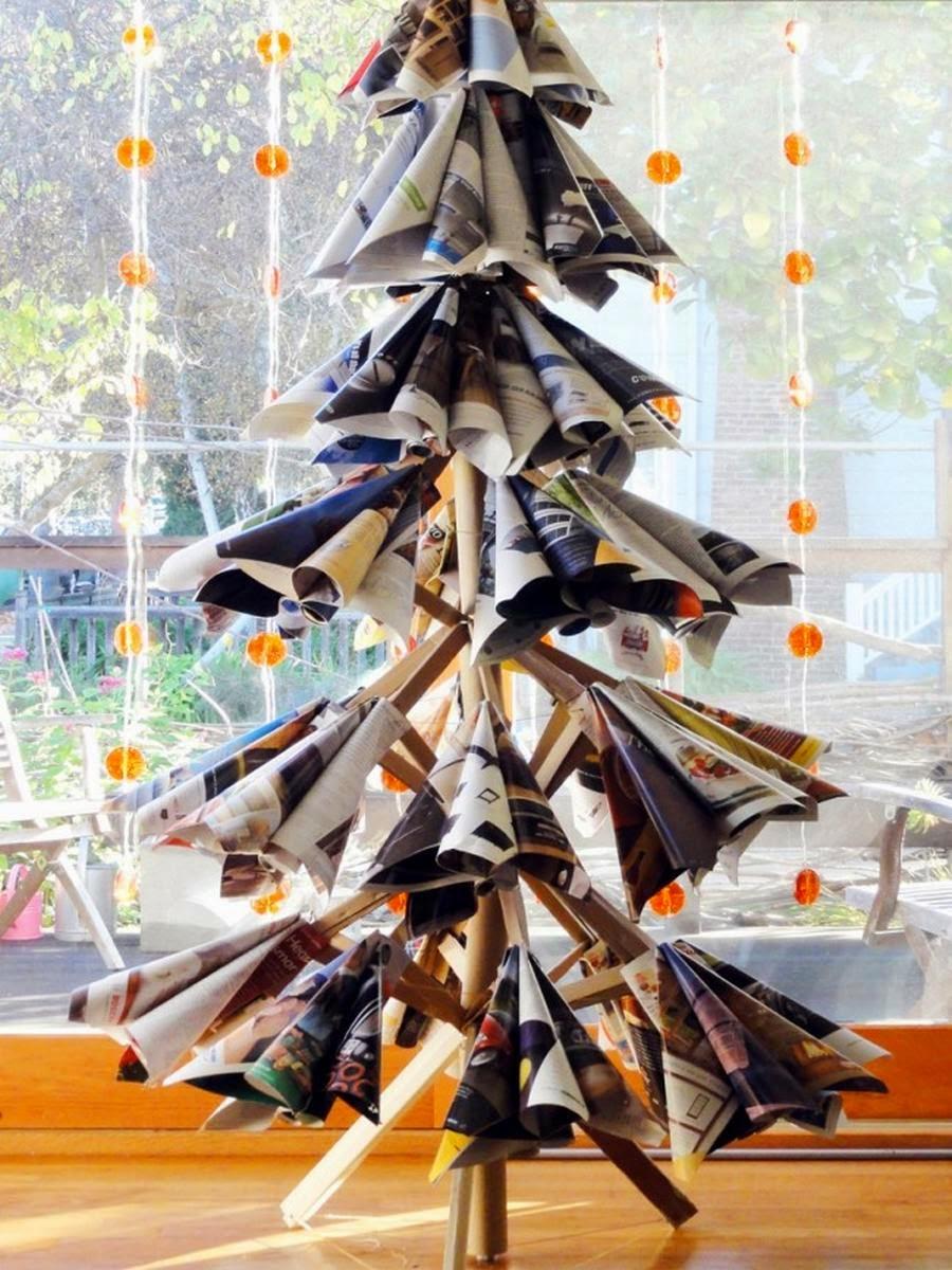 10 rboles de navidad reciclados muy originales top 10 - Arbol de navidad original ...