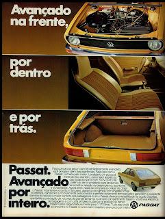 propaganda Passat - 1978. reclame de carros anos 70. brazilian advertising cars in the 70. os anos 70. história da década de 70; Brazil in the 70s; propaganda carros anos 70; Oswaldo Hernandez;
