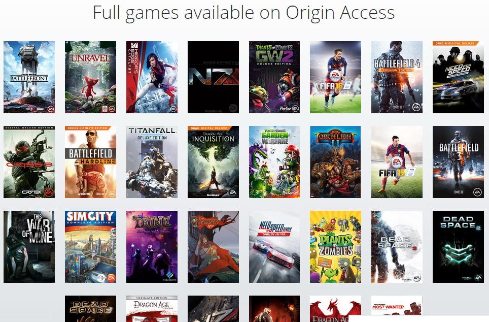 Berlangganan Origin Acces