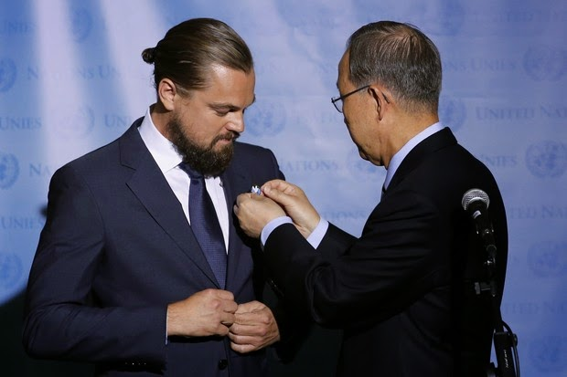 Beard and 'horse tail', Leonardo DiCaprio gets title