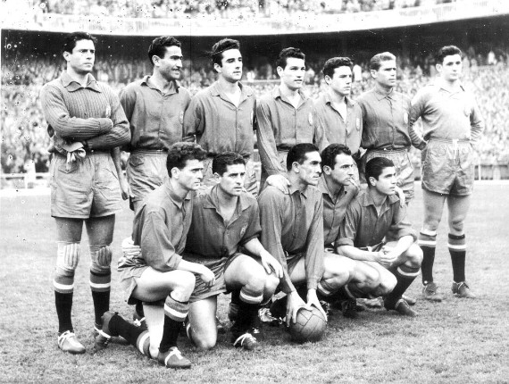 España en el primer partido contra Turquía (06-01-1954)