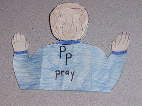 Back of Praying Boy Figure...