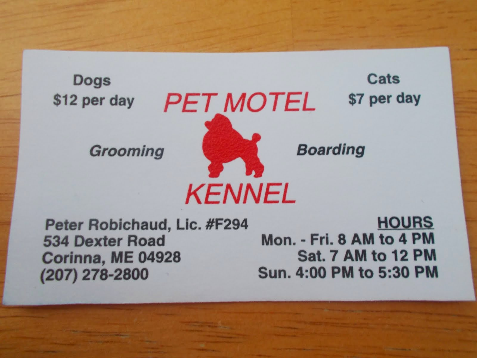 Pet Motel (Corinna)