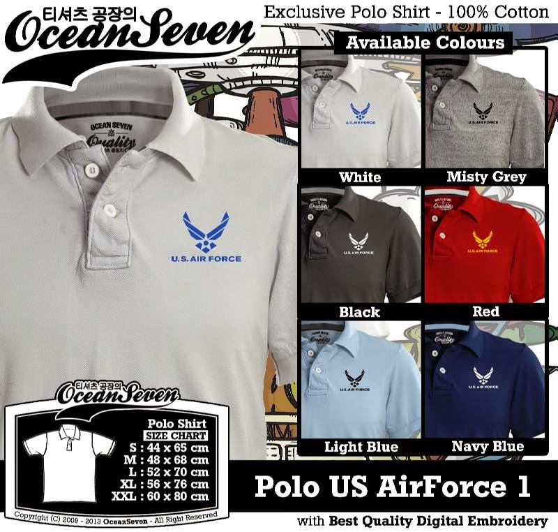Kaos Polo US AirForce 1