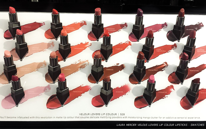 Laura Mercier Velour Lovers Lip Color Lipsticks Photos Swatches