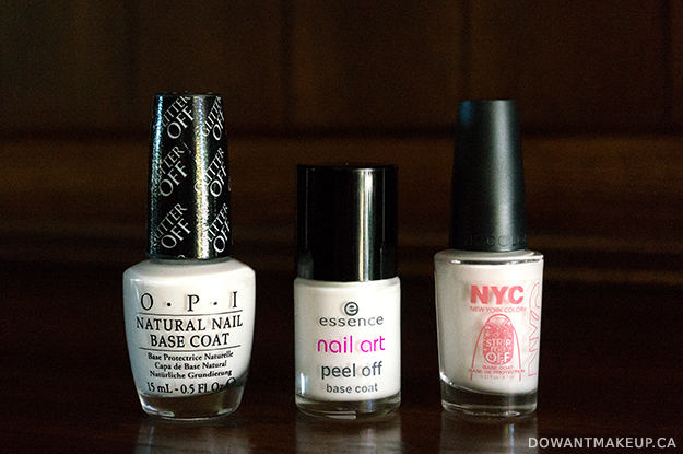 Peel off base coats