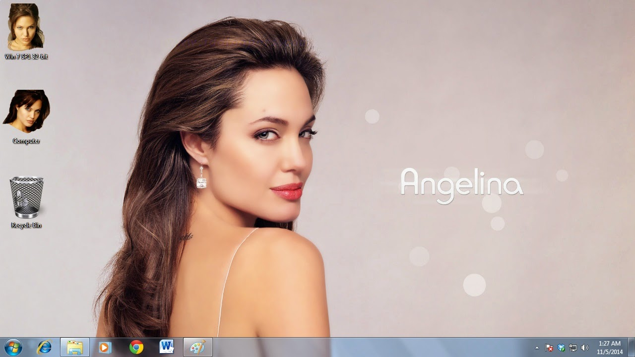 Angelina Jolie Theme for Windows Unltrabook