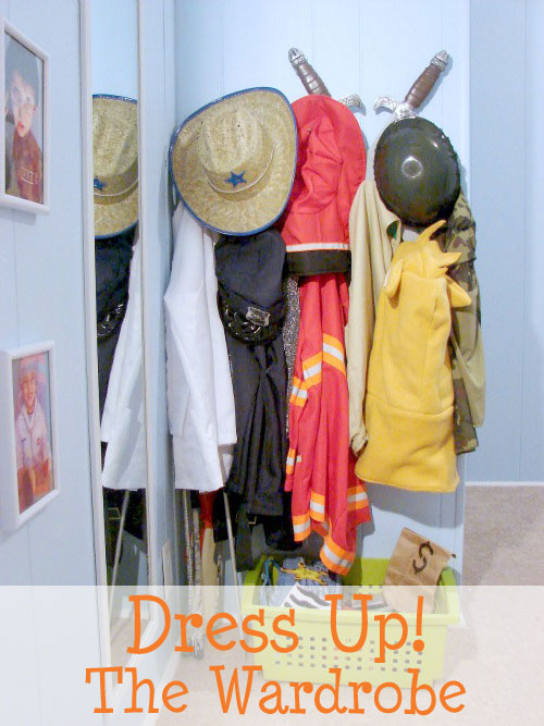 how to build a dress up play wardrobe for kids