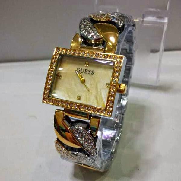 Jam Tangan Guess Kombinasi Emas Dan Silver