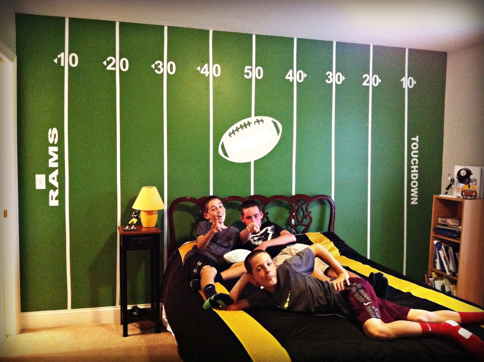 hope studios football wall. Black Bedroom Furniture Sets. Home Design Ideas