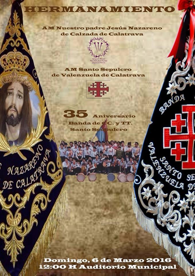 Hermanamiento AM Nuestro Padre Jesús Nazareno de Calzada de Calatrava y AM Santo Sepulcro