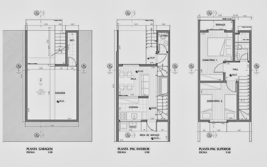 Condominium House Plans - 46m2 House Plans - Box House by floors