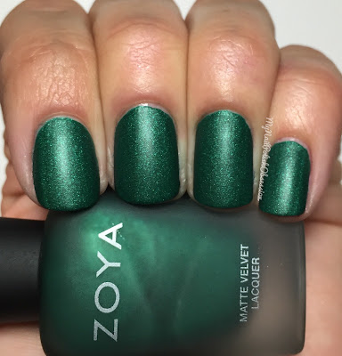 Zoya Matte Velvet Holiday; Iris