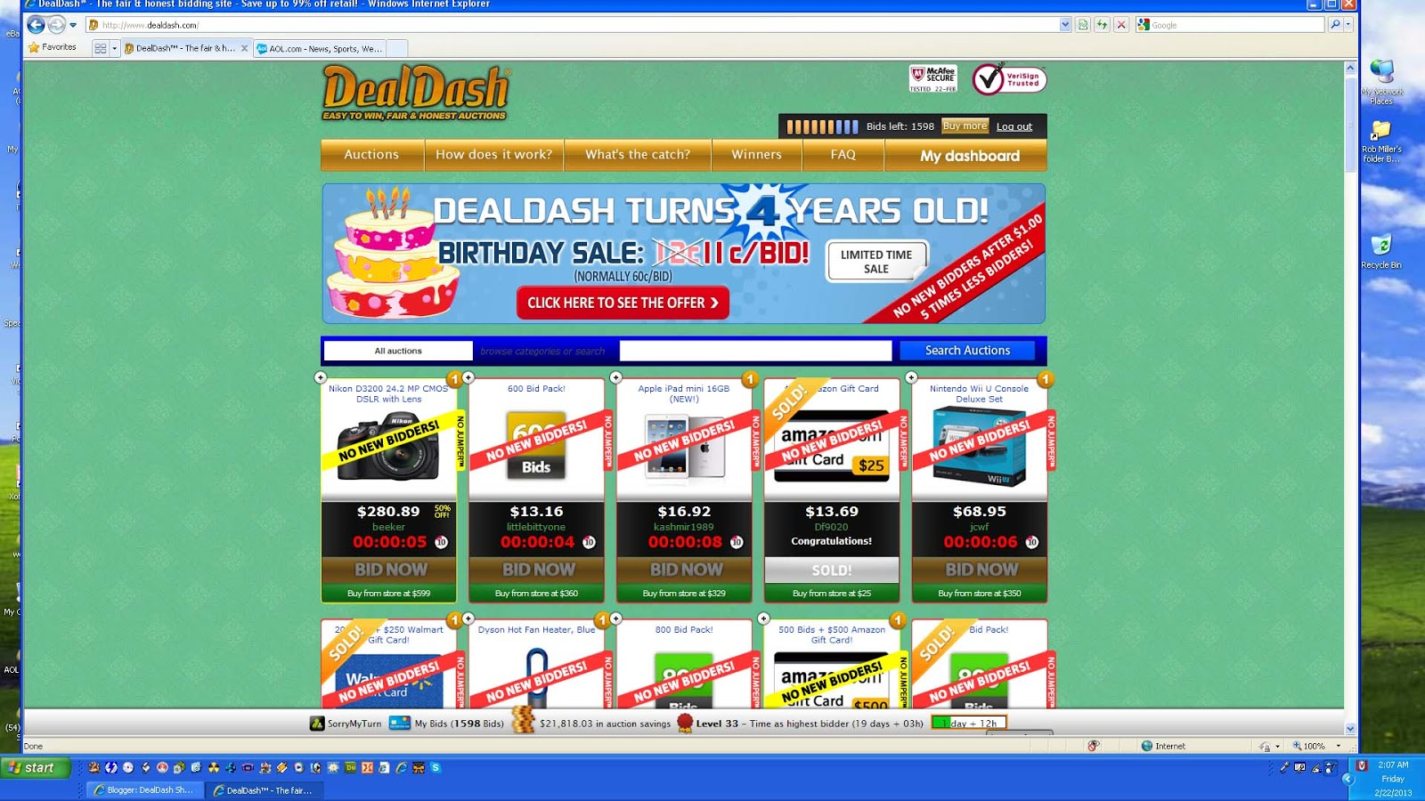 DealDash Shopping Another Successful Year
