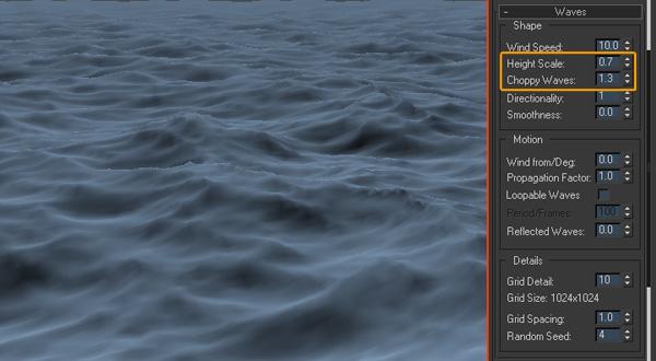 Cảnh biễn lãng mạn trong 3d max | Cảnh biển trong 3d max | tao canh bien trong 3d max | tạo cảnh biển trong 3ds max