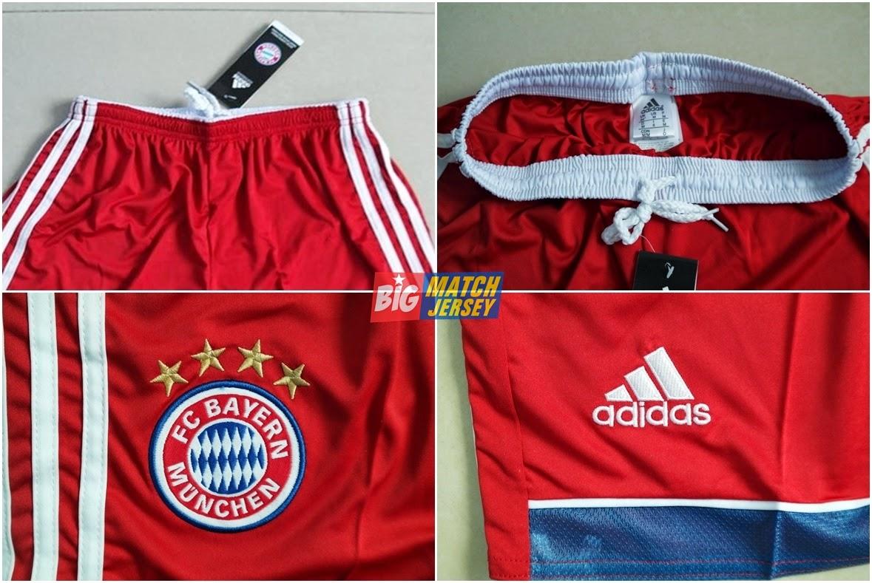 Detail Celana-Shorts Grade Ori Bayern Munchen Home Terbaru Official Musim 2014 - 2015