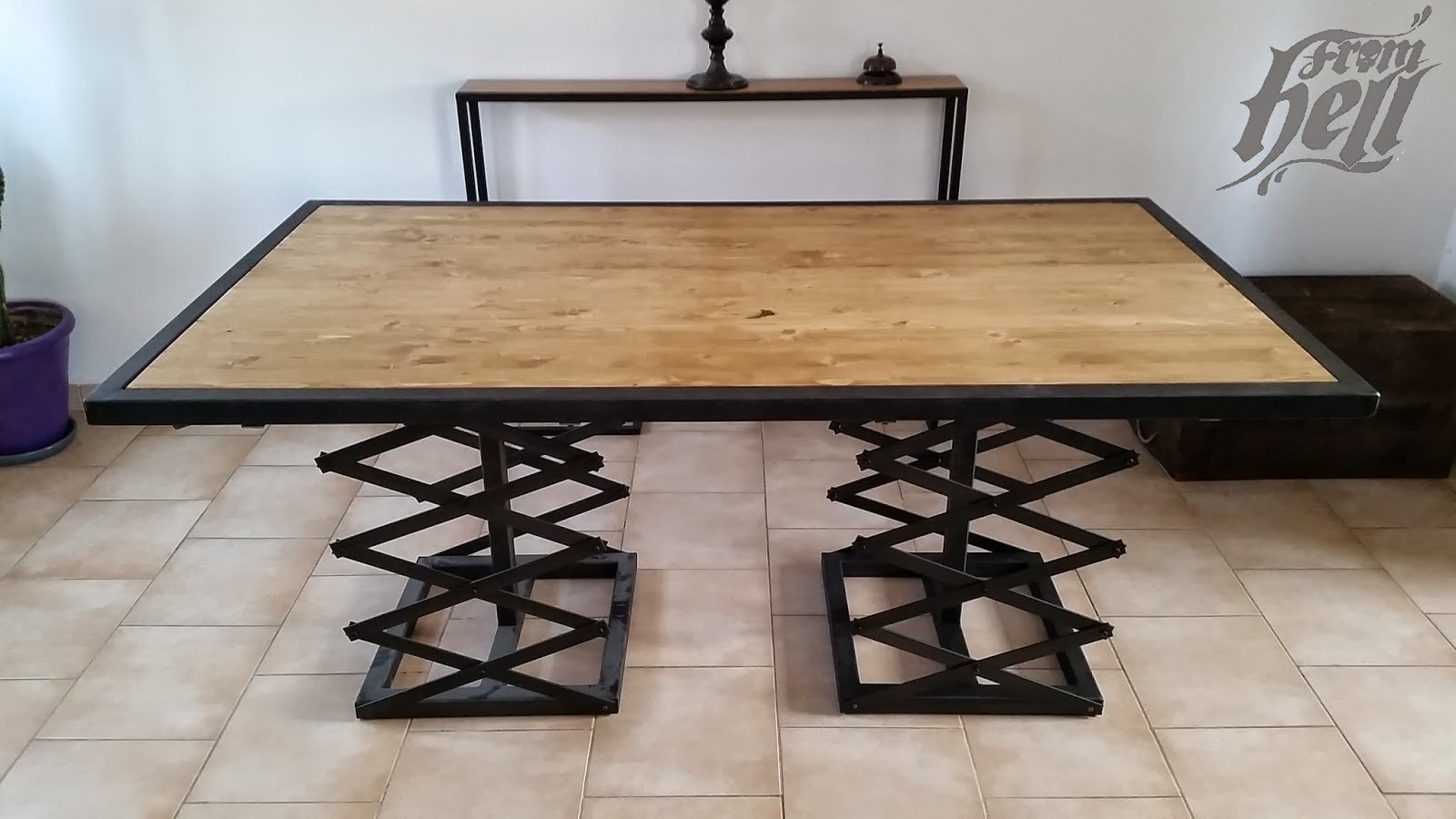 Table salle manger industrielle - Table a manger industrielle ...