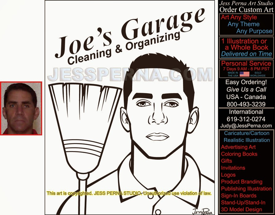 Nice Garage Cleaning And Organizing Part - 9: Garage Cleaning And Organizing Service Cartoon Flier, Business Card