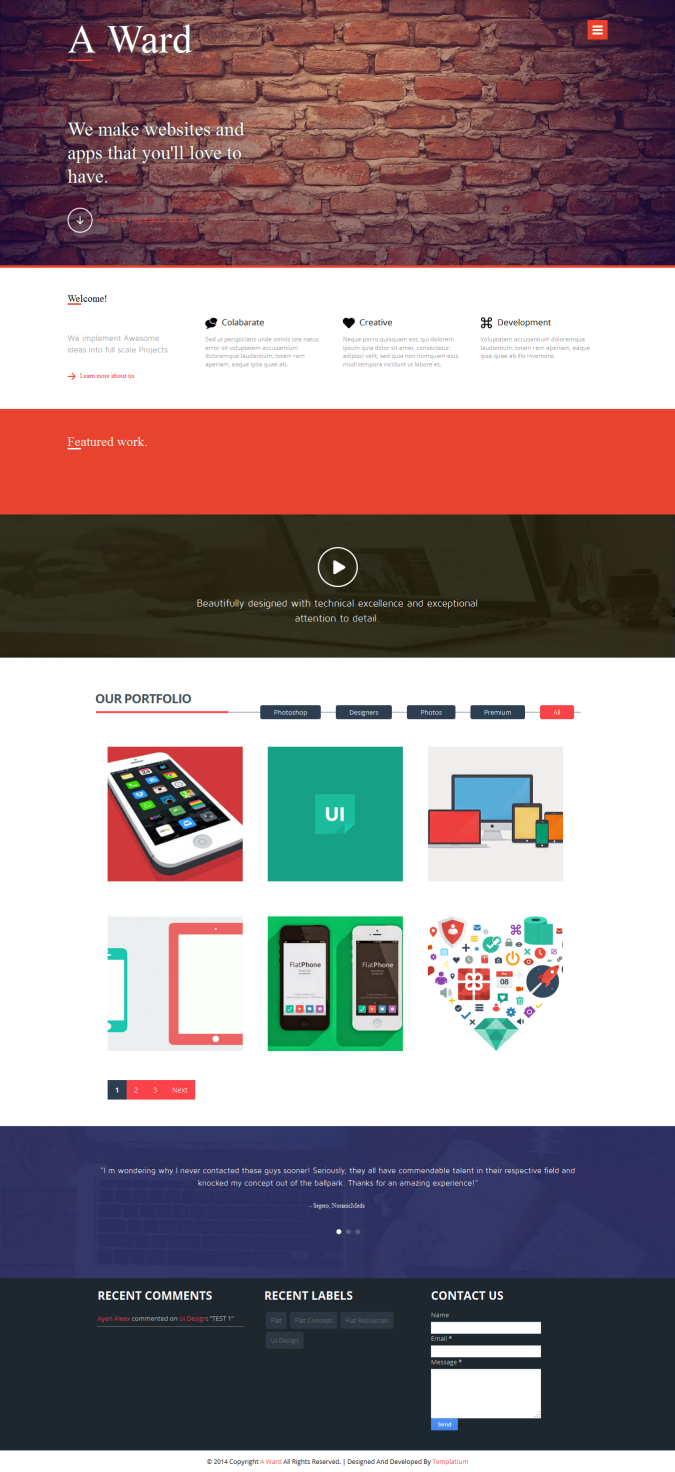 A Ward Responsive Blogger Template