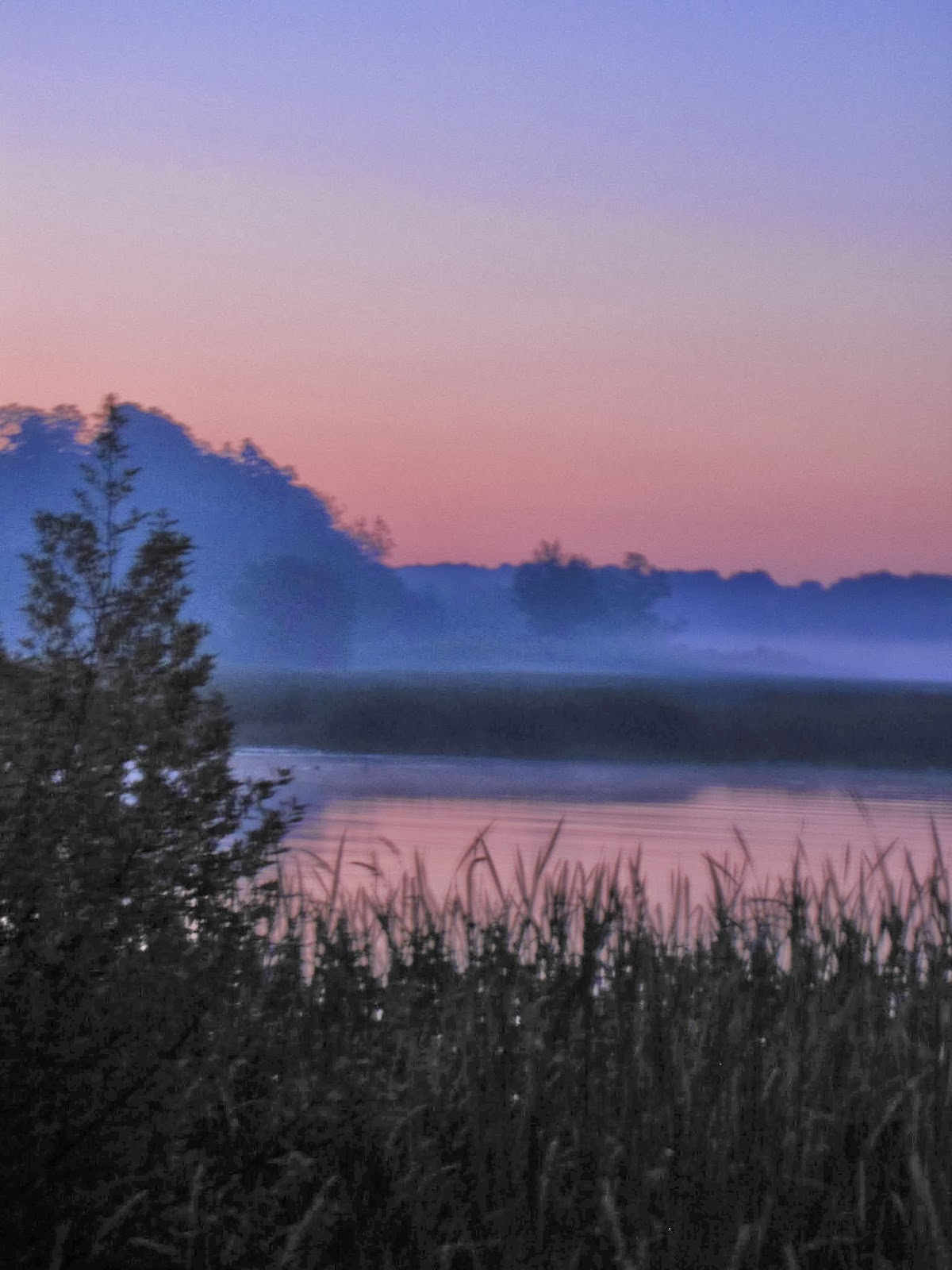 sunrise over Pentwater River