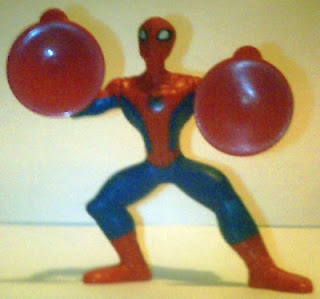 Front of Spider-Man suction cup figure from McDonald's Happy Meal