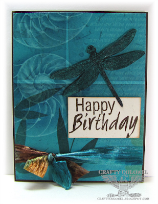 Crafty Colonel Donna Nuce for Cards in Envy, Club Scrap Transformations , Birthday Card