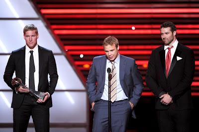 LA Kings' Dustin Brown, Matt Greene and Dustin Penner ESPY 2012