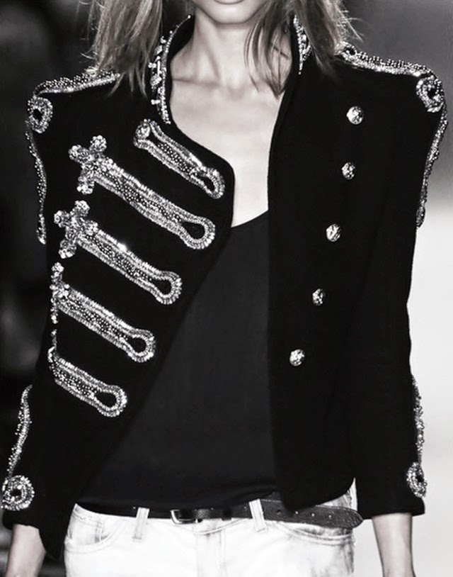 balmain double breasted jacket