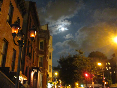 Blue moon over Sunset Park in Brooklyn