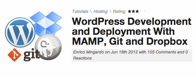 WordPress Deployment With MAMP, Git and Dropbox
