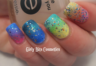 girly bits cosmetics gradient sofa king messy