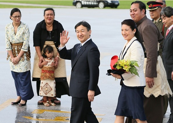 Prince Naruhito And Princess Masako Visited Tonga