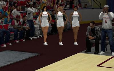 NBA 2K13 Cleveland Cavaliers Stadium Cheerleaders Update