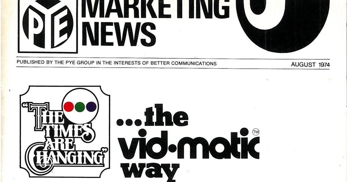 nz vintage tv  u0026 radio  pye marketing news august 1974