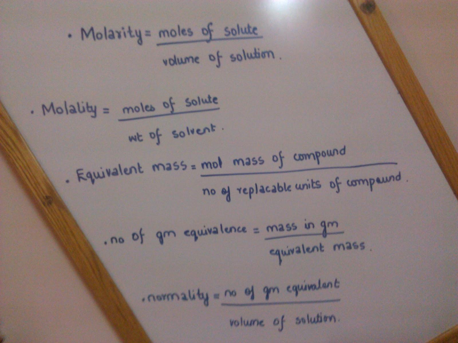 Isolated System  Formula U0026 39 S Of Molarity  Molality