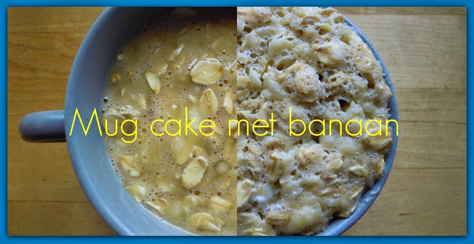 Mug cake met ei, havermout en banaan