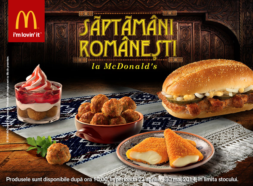 Around The World Mcdonald S Romania Offers Romanian